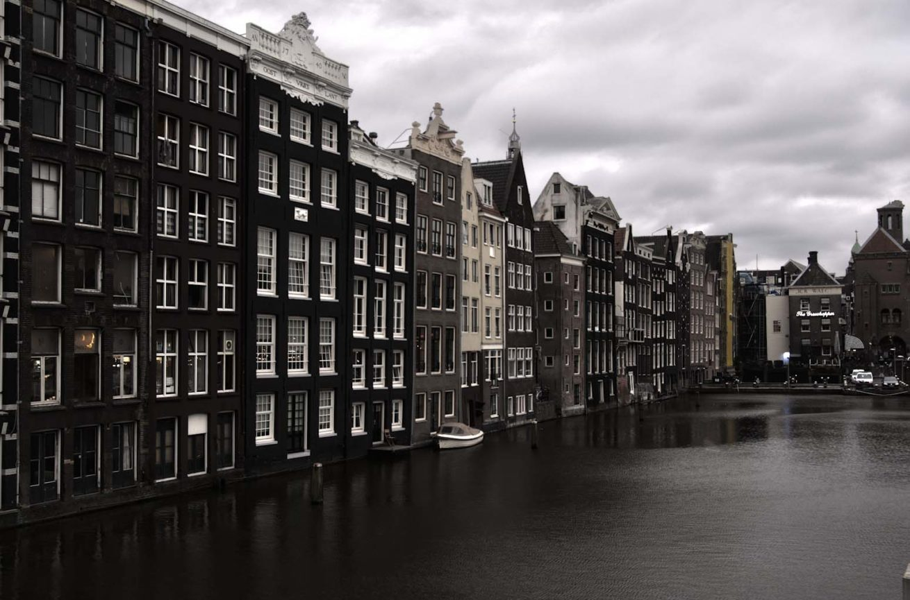 Amsterdam HDR canals water buildings
