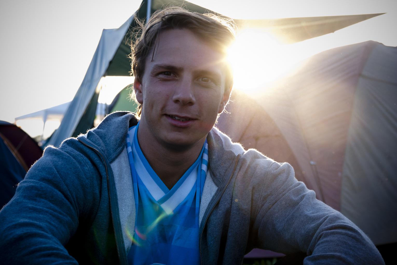 Sunset at Roskilde Festival 2010