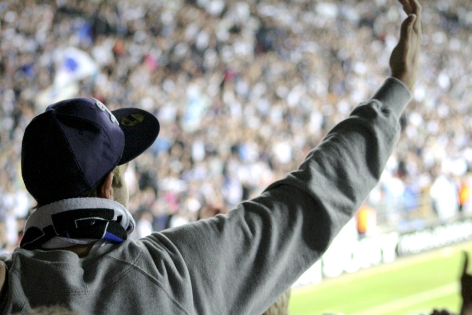 Fck-Rosenborg football supporter