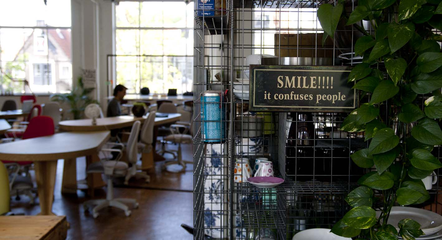 "The Hub Amsterdam ""smile it confuses people!"""