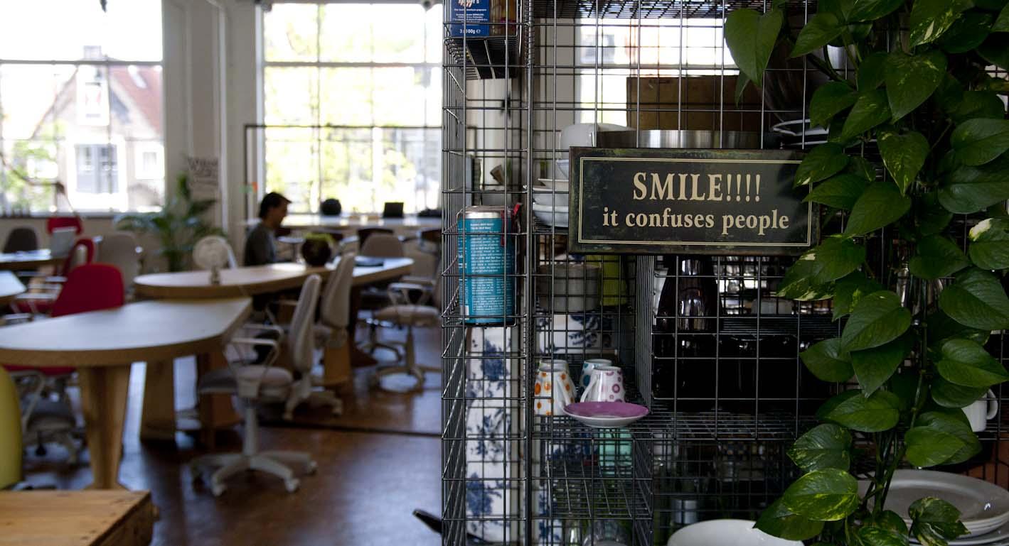 "The Hub Amsterdam ""smile it confuses people!"""