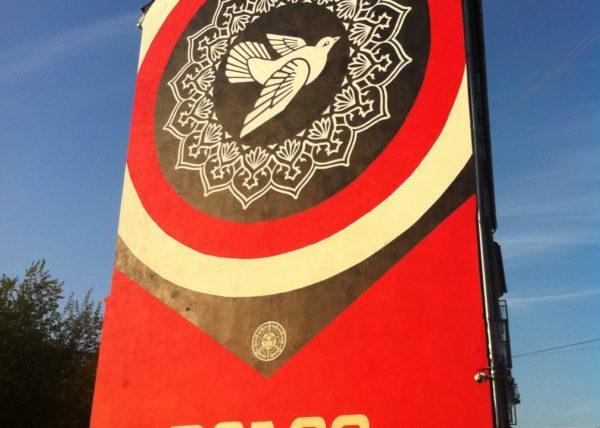 Shepard fairey, jagtvej 69, ground 69, graffiti streetart copenhagen denmark