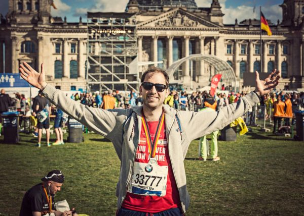 Søren Bo Steendahl Masanga Runners In Berlin 42nd. Marathon